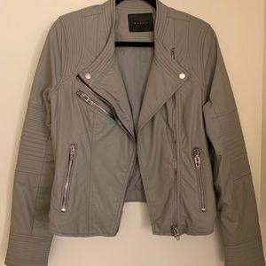 BLANKNYC Gray Leather Jacket